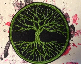 Tree of life patch, celtic, pagan, wiccan, wicca, nature patch, winter tree patch, tree applique, witchcraft supply, wiccan art, embroidery