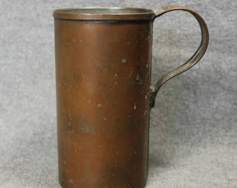 Tall Brass Cup Vintage Handmade Brass cup with beautiful patina
