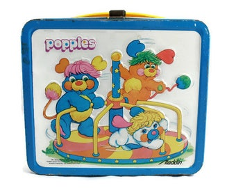 1986 Popples Metal/Tin Lunch Box Vintage