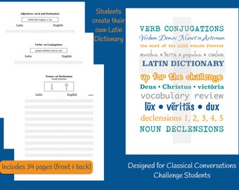NEW Challenge Student Latin Vocabulary Notebook 2017-18