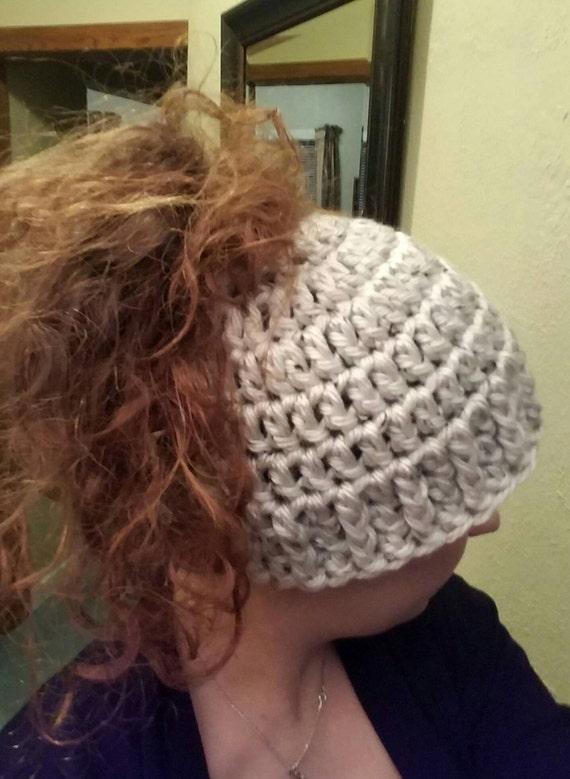 Crochet Messy Bun Beanie : Hat, Messy Bun Hat, Crochet Winter Hat, Ponytail Hat, Ponytail Beanie ...