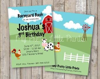 Barnyard Birthday Invitation *DIGITAL FILE*
