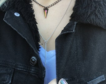 Sparkly mini spike necklace
