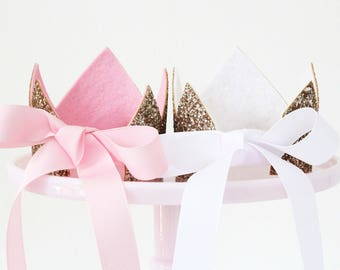 Ballerina Princess Birthday Crown Smash Cake First Birthday