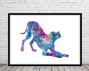 Weimaraner, watercolor weimaraner, weimaraner art print, watercolor art print, watercolor dog, Weimaraner print, Weimaraner dog (3259b)