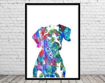 Weimaraner, watercolor weimaraner, weimaraner art print, watercolor art print, watercolor dog, Weimaraner portrait, Weimaraner dog (3262b)
