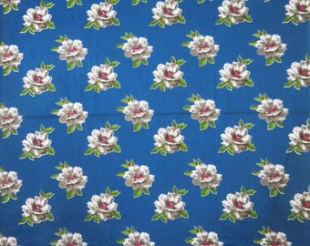 """Dressmaking Fabric Cotton Fabric For Sewing DesignerBlue Cotton Floral Printed Fabric 39"""" Wide Fabrics Crafting Material By 1 Yard ZBC5132"""