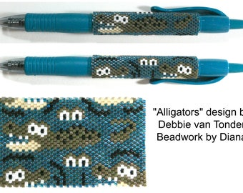 Alligators beaded pen