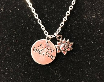 Hand Stamped/ Metal Stamped/ Necklace/ Inspirational/ Sayings