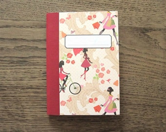 "notebook Din A6 ruled ""Mademoiselle"""