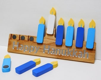 Magnetic Hanukkah Menorah