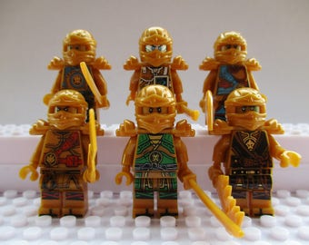Ninjago Mini Figures Nya Jay,Kai,Cole,Lloyd & Zane Fits All Lego Sets