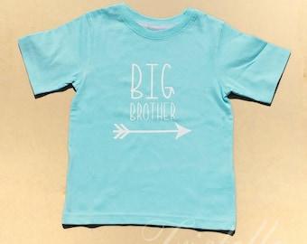 Big Brother Shirt - Big Brother - Brother Shirt - Big Brother Arrow Shirt - Arrow Shirt - Pregnancy Announcement - Custom Shirt