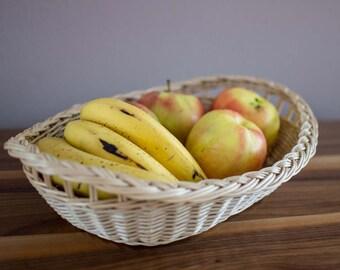 Fruit / bread wicker basket (tray / platter)