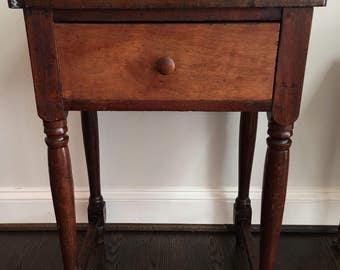 Rustic Antique Primitive Drop Leaf Work Table