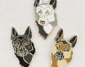 German Shepherd pin - gsd dog hard enamel pin
