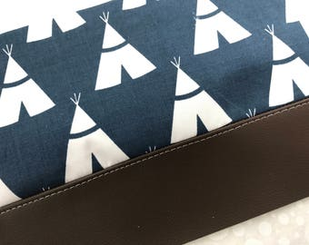 Teepee Clutch with Faux Leather