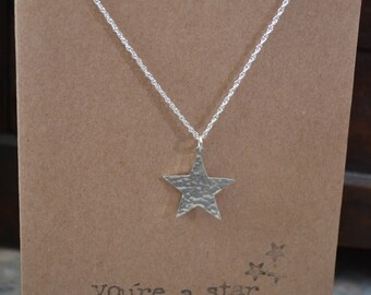 You're A Star Silver Necklace