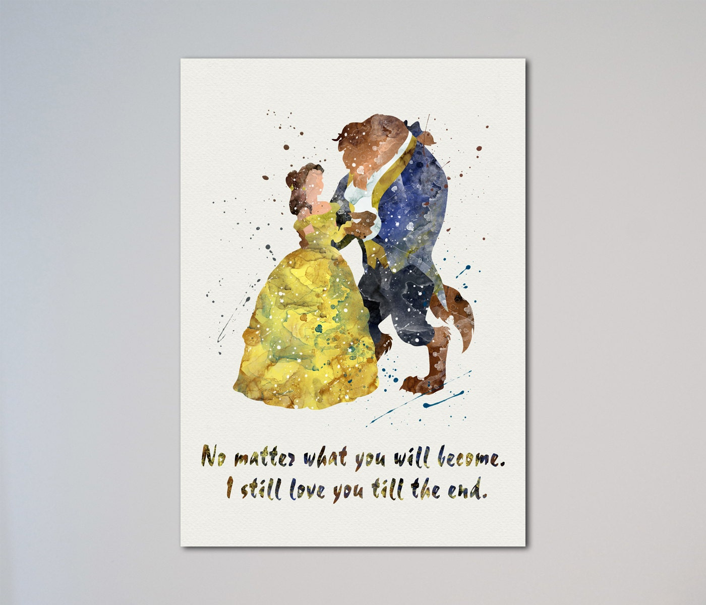 Beauty and the Beast Quote Poster Belle Poster Valentine's