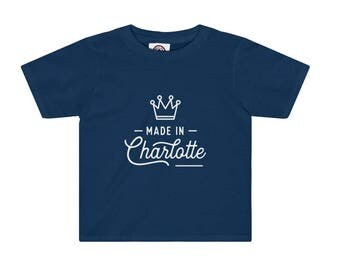 Made in Charlotte Short-Sleeve Toddler Tee | Charlotte, NC Toddler Tshirt