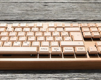 Wooden Keyboard with Mechanical switches