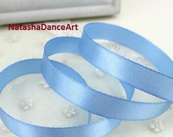Blue ribbon 1/2'' (12 mm), satin ribbon, ribbon by the yard, fabric ribbon, sewing ribbon, ribbon for crafts, 3 meters