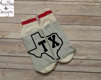 Wine Socks, State of Texas Socks, Texas Home Socks, Novelty socks, Valentine Socks, Valentine's Day Socks