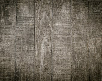 Dark Wood Backdrop - old wood floor, newborn, planks - Printed Fabric Photography Background G1537