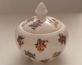 Shelley England Condiment Jar With Lid