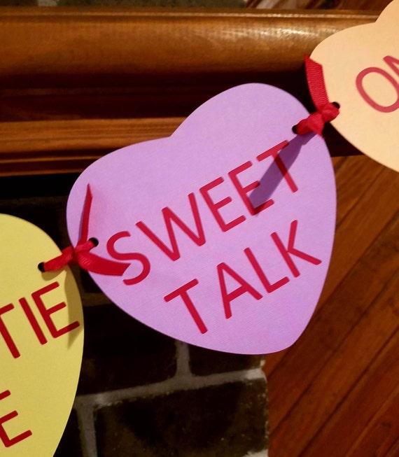 Conversation Hearts Banner Candy Heart Banner