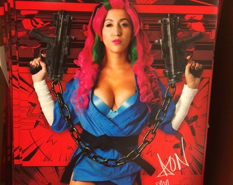 SIGNED April O'Neil Amerikarate POSTERS