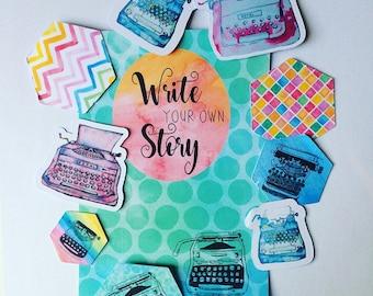 My story postcard and ephemera set