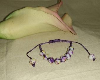 Purple Splatter - Woven Bracelet