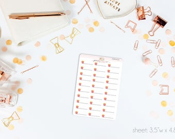 MINI Movie Popcorn Stickers // 30 Matte Planner Stickers // Perfect for Erin Condren, Filofax, A5, any planner // AM0075
