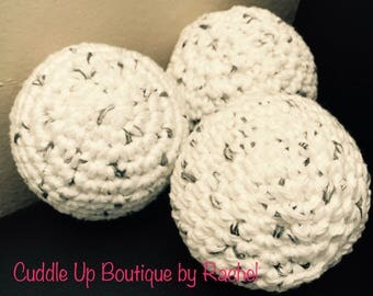 Hypoallergenic Dryer Balls, Essential Oils Scented, Set of 3, Chemical Free Laundry, Gift for Mom, Gift for Baby, All Natural Eco Friendly