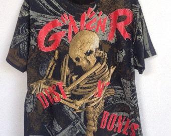 Rare vintage Guns N' Roses Dust N' Bones all Overprint tshirt 1992 XL