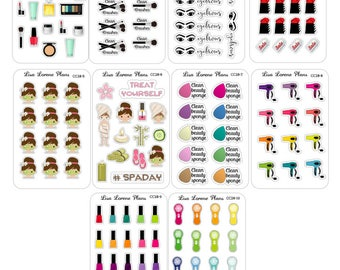 BEAUTY Mini Planner Sticker Sheets perfect for Sticker Wallet | CC28.1-10