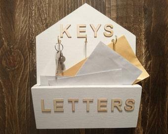 Key hook and letter holder