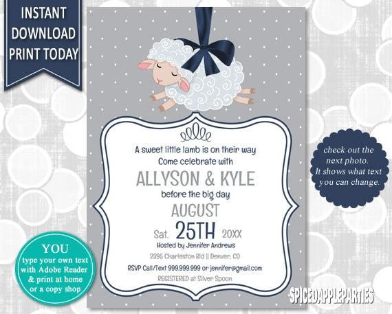 Lamb Baby Shower Storybook Baby Shower Baby Shower Invite Lamb