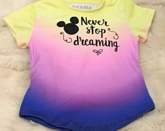 Disney t-shirt Girls tee disney vacation kids