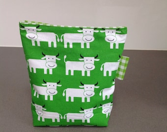 Reusable sandwich bag/cow