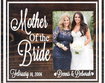 Mother of the bride picture frame - mother of the bride gift - gift ideas for mother of the bride - wedding picture frames for parents