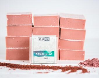 Natural Soap | Essential Oil Soap | Kauai Clay Salt Bar | Essential Oils Salt and Clay Soap | Soap Bar | Salt Bar| Clay Bar