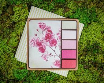 Pink Blossom Spring Palette greeting card