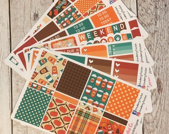 Pumpkin Spice Mocha Themed Kit---- Weekly Planner Kit ---- {Includes 250+ Stickers}