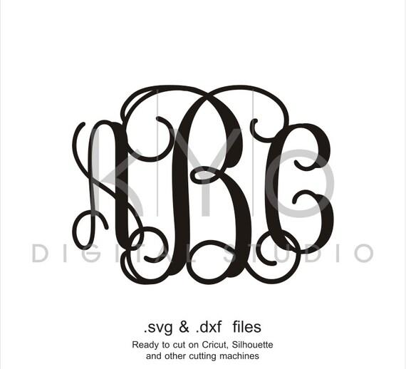 interlocking vine monogram font svg cut files alphabet svg