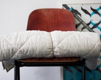 King duvet - Medium weight comforter - Organic wool bedding - Wool duvet - Linen duvet - Stone washed linen - Linen cover - Birthday gift