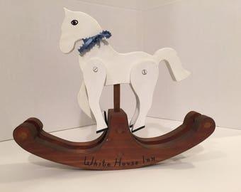 Rocking Horse, White Horse Inn Rocking Horse, Toy Rocking Horse