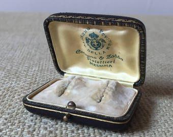 Earrings/vintage earring box vintage box.