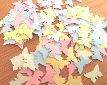 1000 x Pastel Butterfly Shaped Confetti